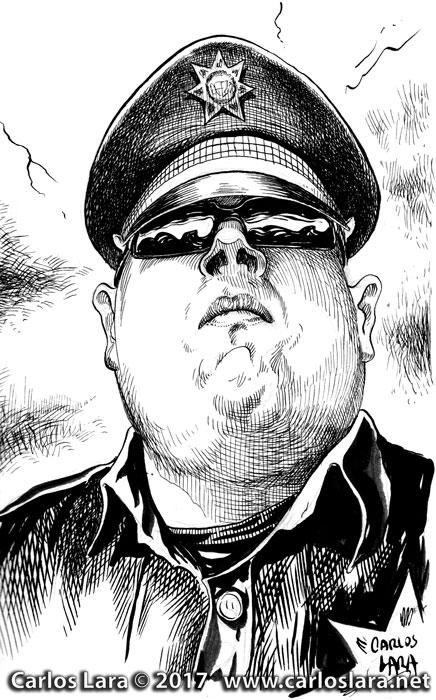 Policía de tránsito - Tinta sobre papel