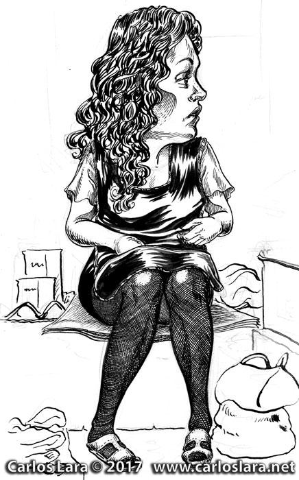 The stockings seller.