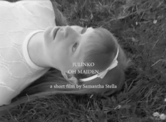 """Il nuovo videoclip di Julinko """"Oh Maiden"""" a short film of Samantha Stella."""