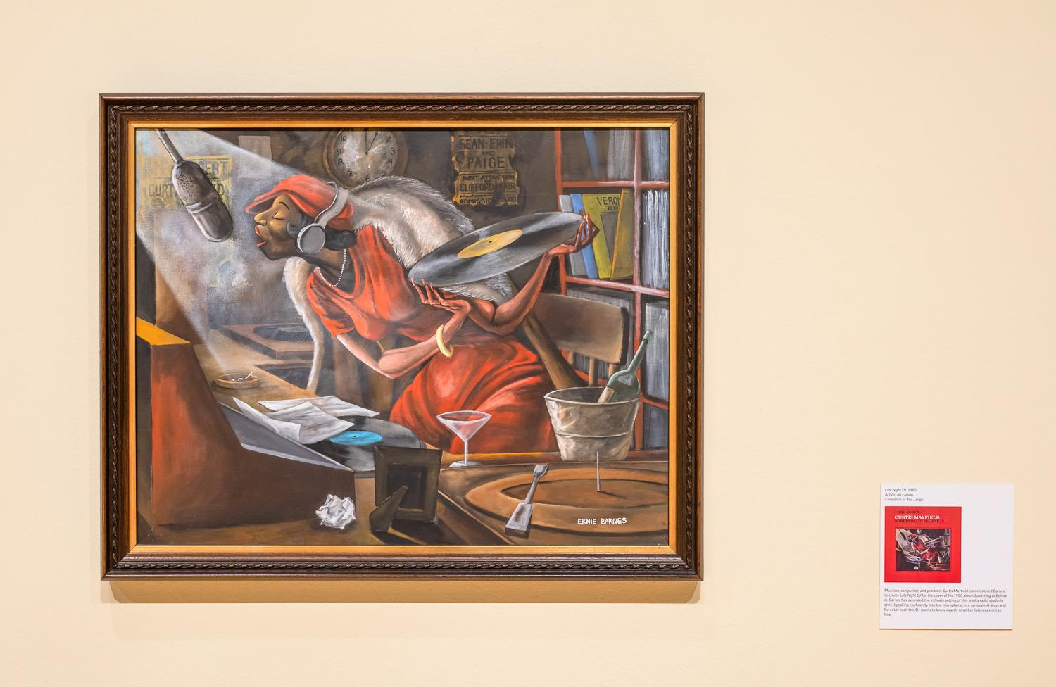 Lineman With Paintbrush Ernie Barnes Paints America