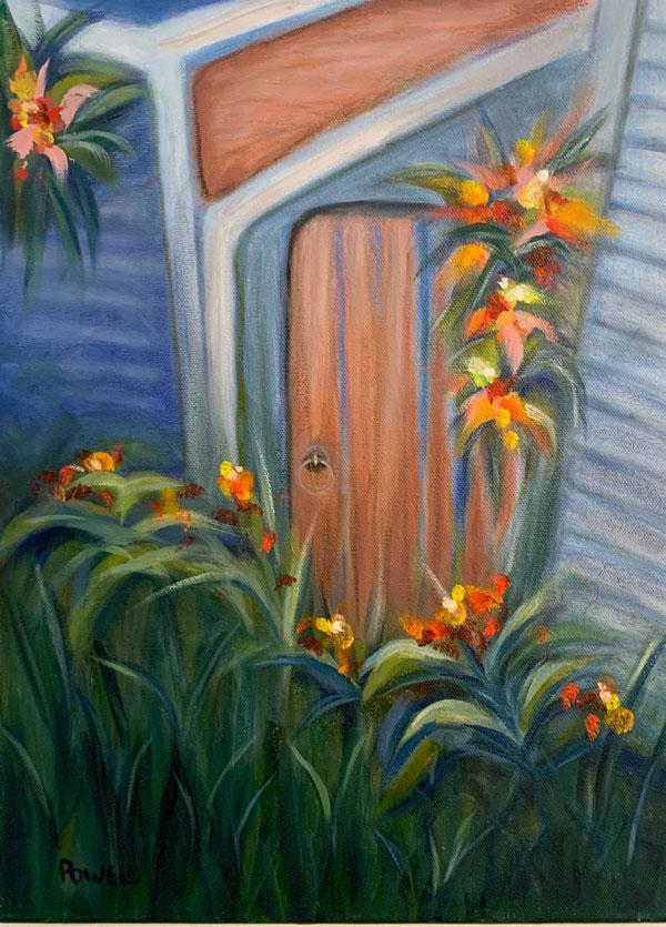 """Garden Door, 12"""" x 16"""""""
