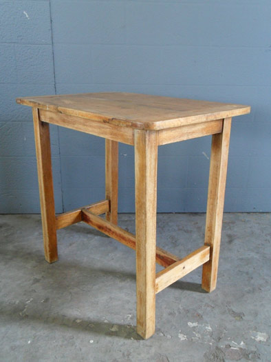 small square rough wooden table artappelartappel