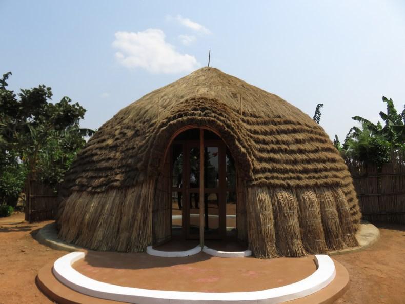 An artist-built Rwandan Traditional House, Kigali