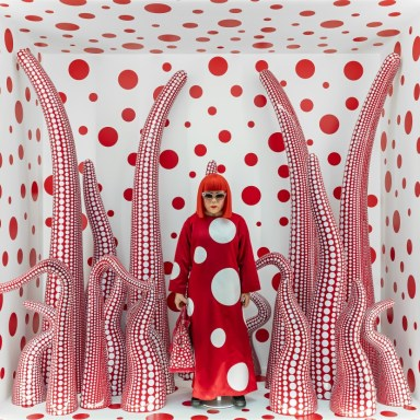 Yayoi Kusama, Louis Vuitton shop window display with Tentacles, 2012-2015