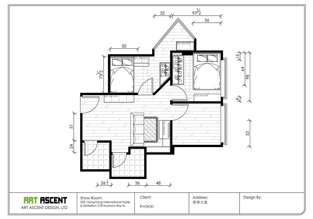 葵涌屋苑家居設計項目, 雍雅軒, 浩景臺, 石蔭邨等 - Art Ascent Design - 室內裝修設計, 訂造傢俬, 室內設計