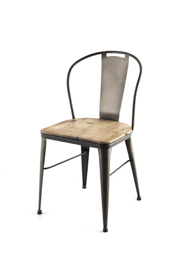 chaise metal d inspiration tolix