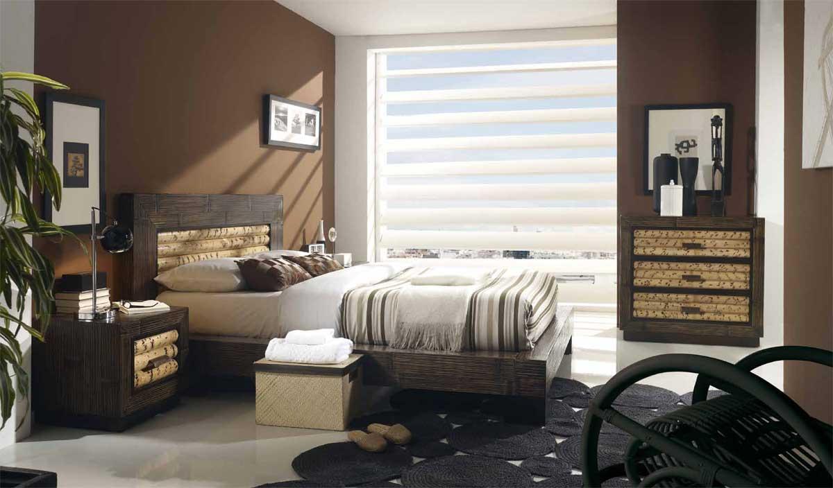 Lit bois et bambou Rumba dimensions au choix 2737