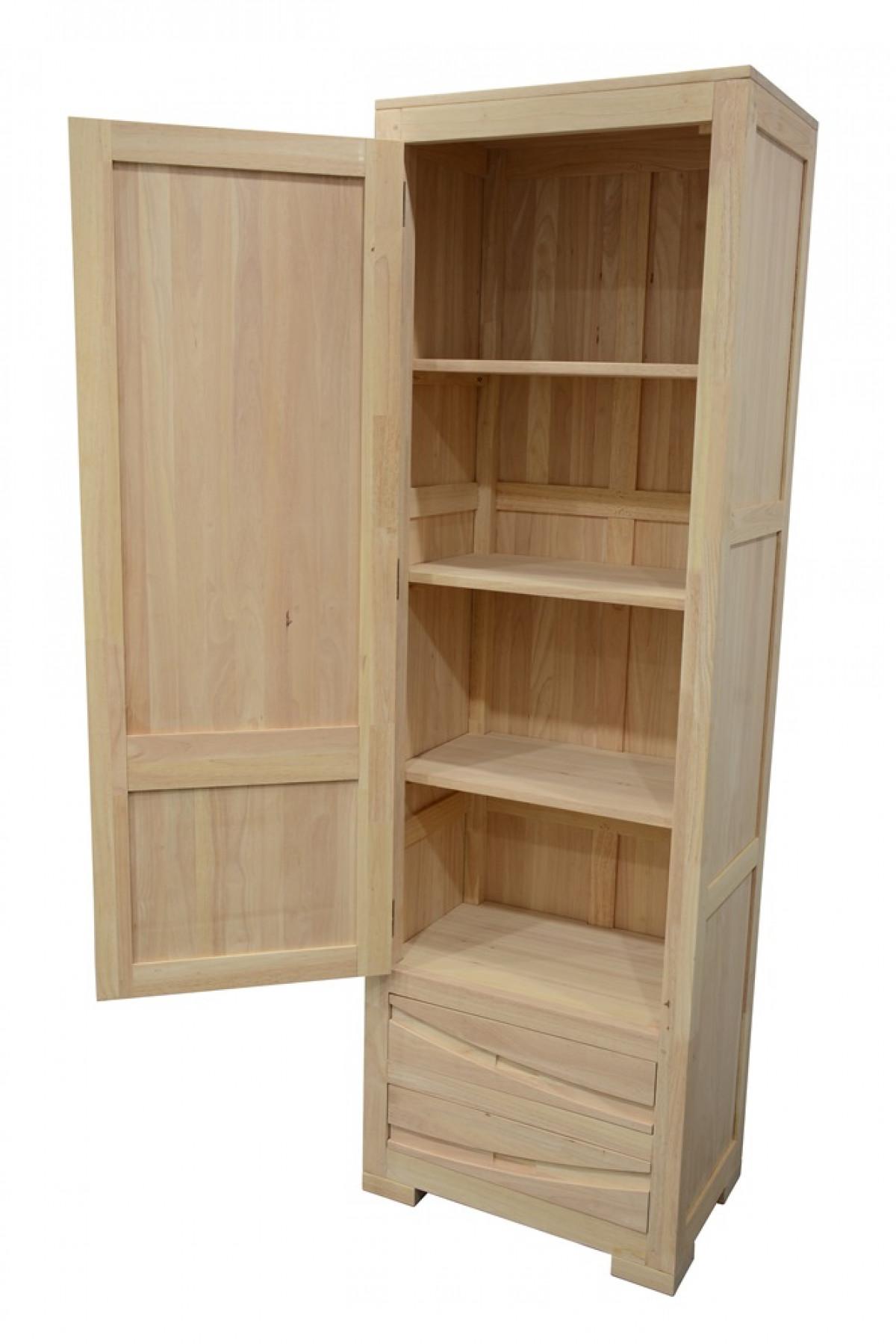 armoire bois 1 porte wakae