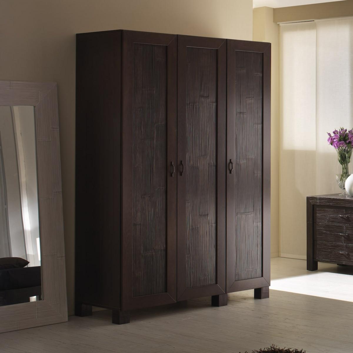 meliani armoire de rangement chambre bambou deroule