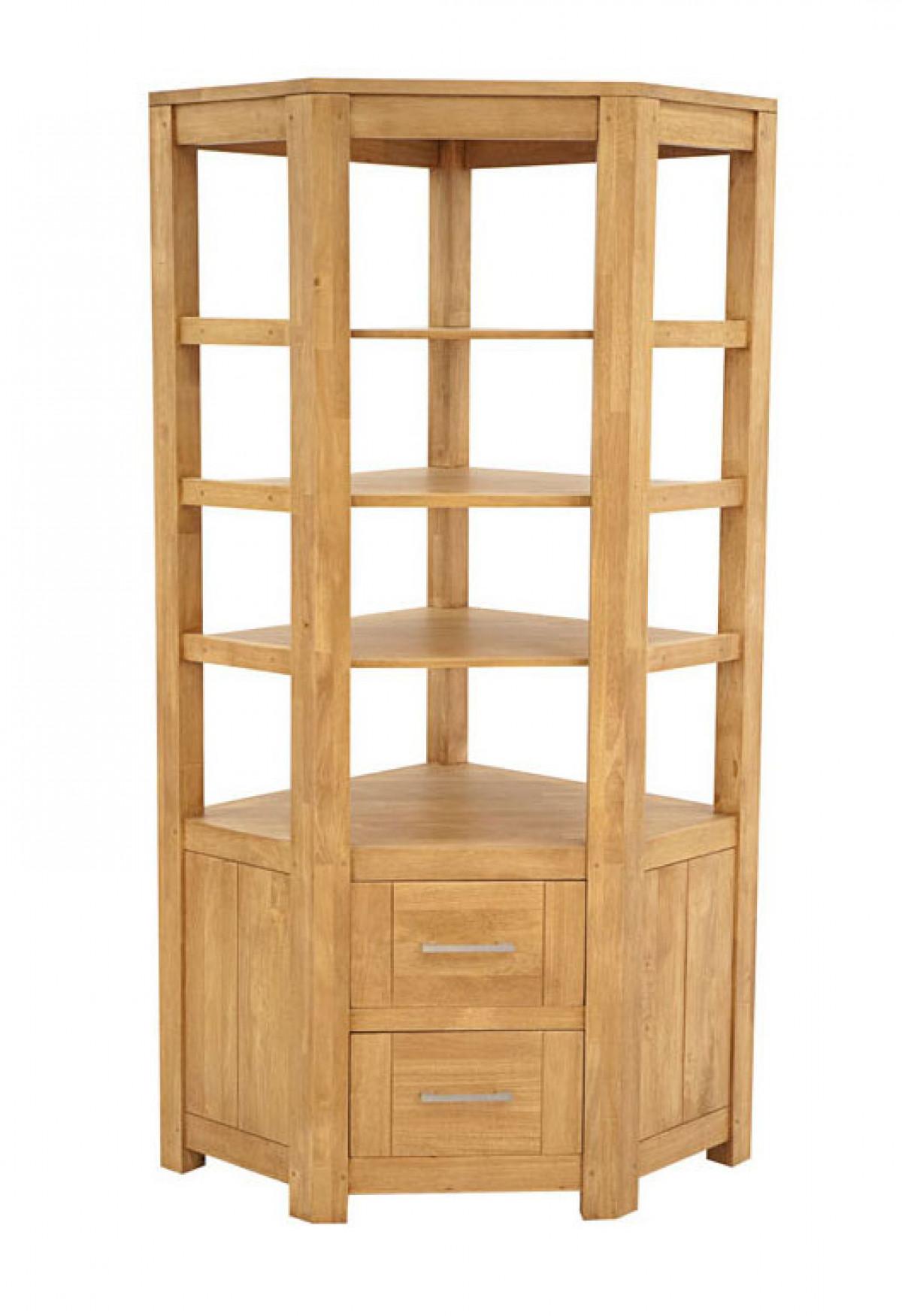 bibliotheque d angle en bois ahor