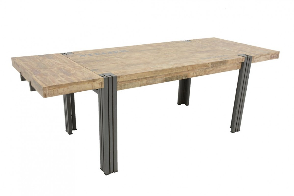 indus table industrielle avec rallonge 230 90 76 cm