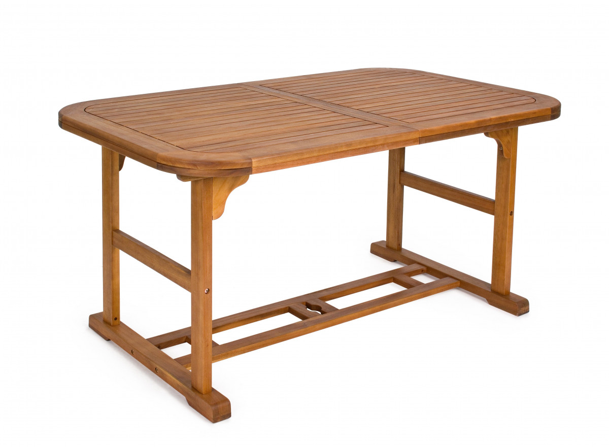 goudo table exterieure ovale bois d acacia