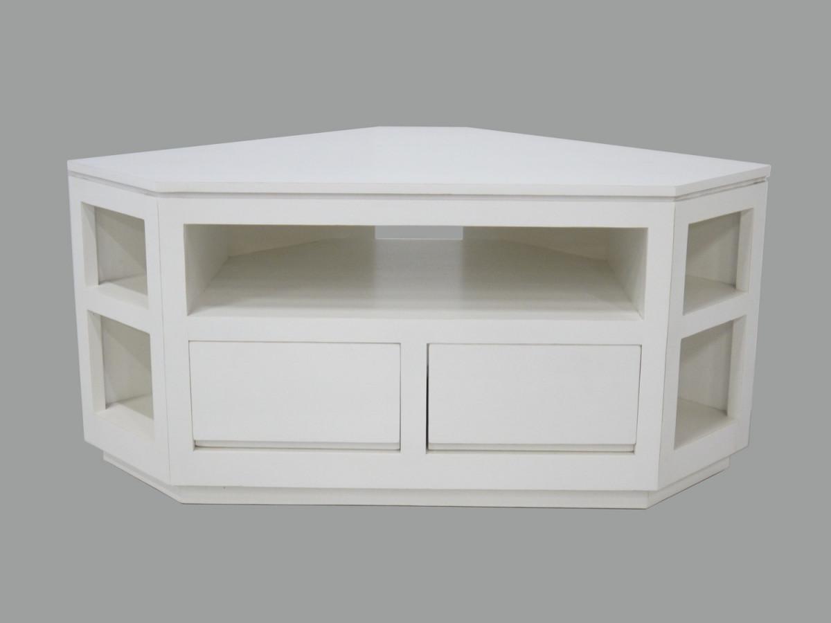 meuble tv video angle 2 tiroirs
