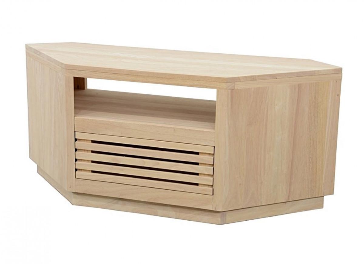 opti meuble d angle tv bois massif