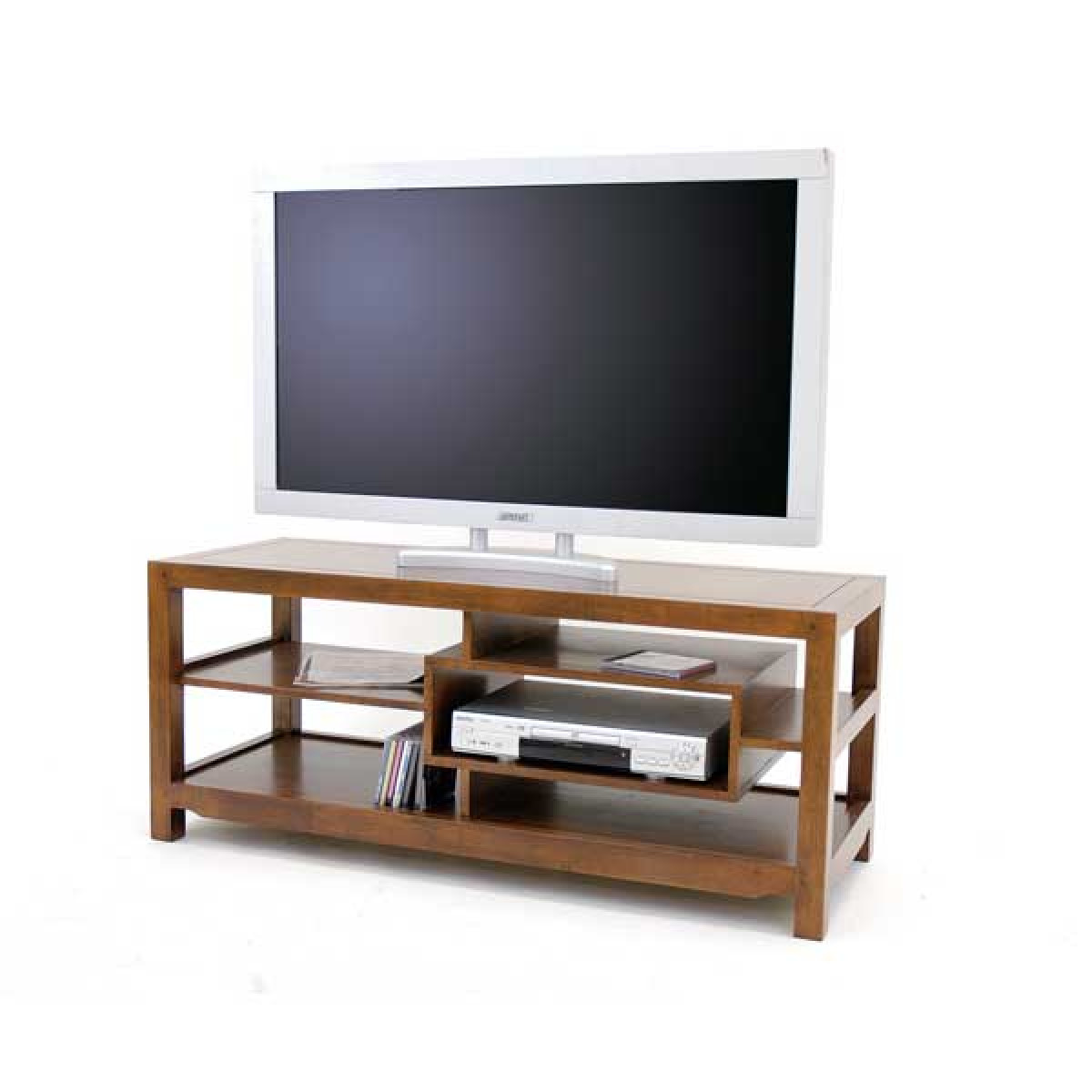 meuble etagere tv video bois arster
