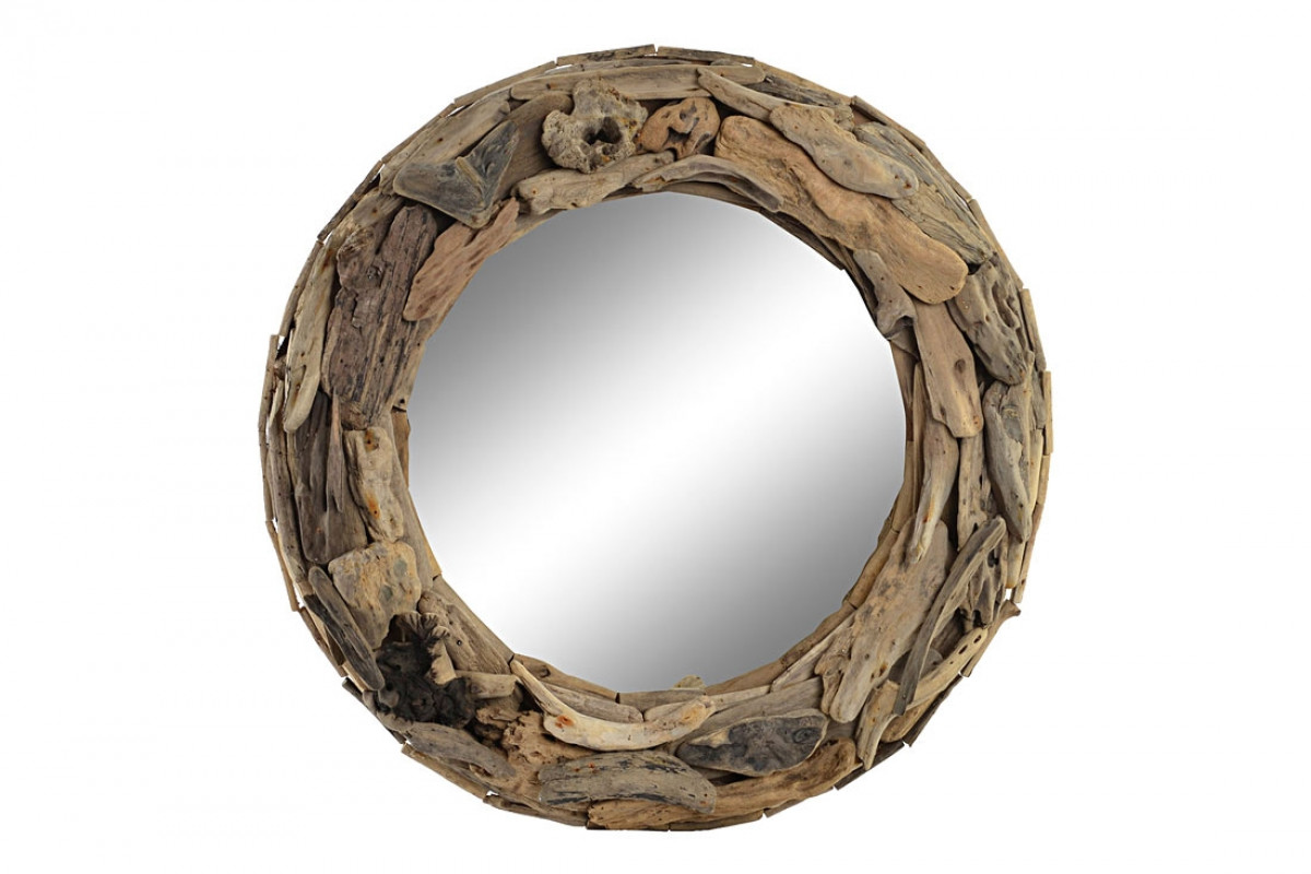 miroir bois flotte diametre 60