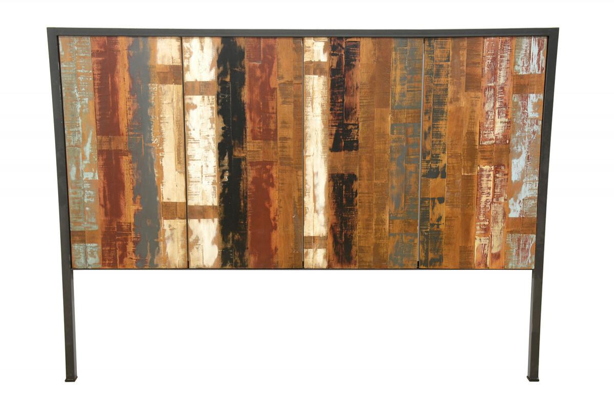 concept tete de lit en bois vieilli 160 cm