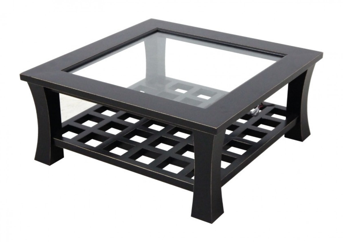 jorg table basse carree plateau verre