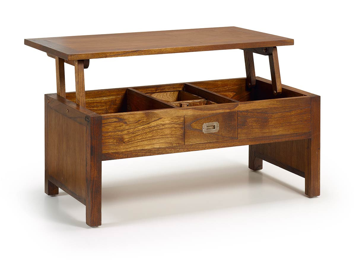 table basse relevable en bois massif de mindy collection mawan