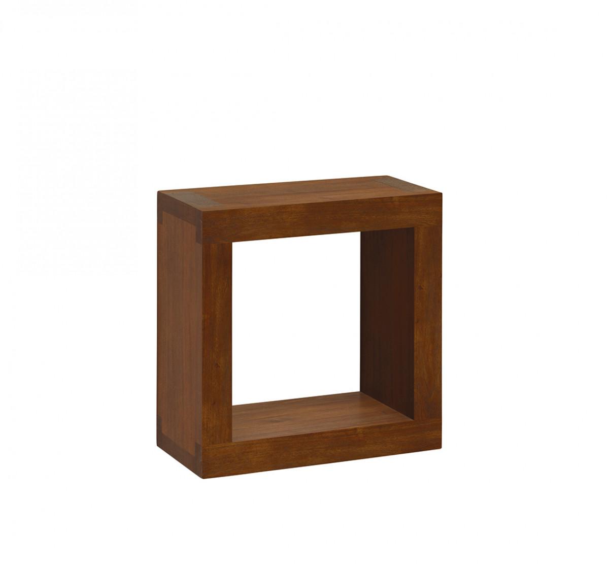 etagere murale cube en bois naturel d acajou 40 20 40 cm veland