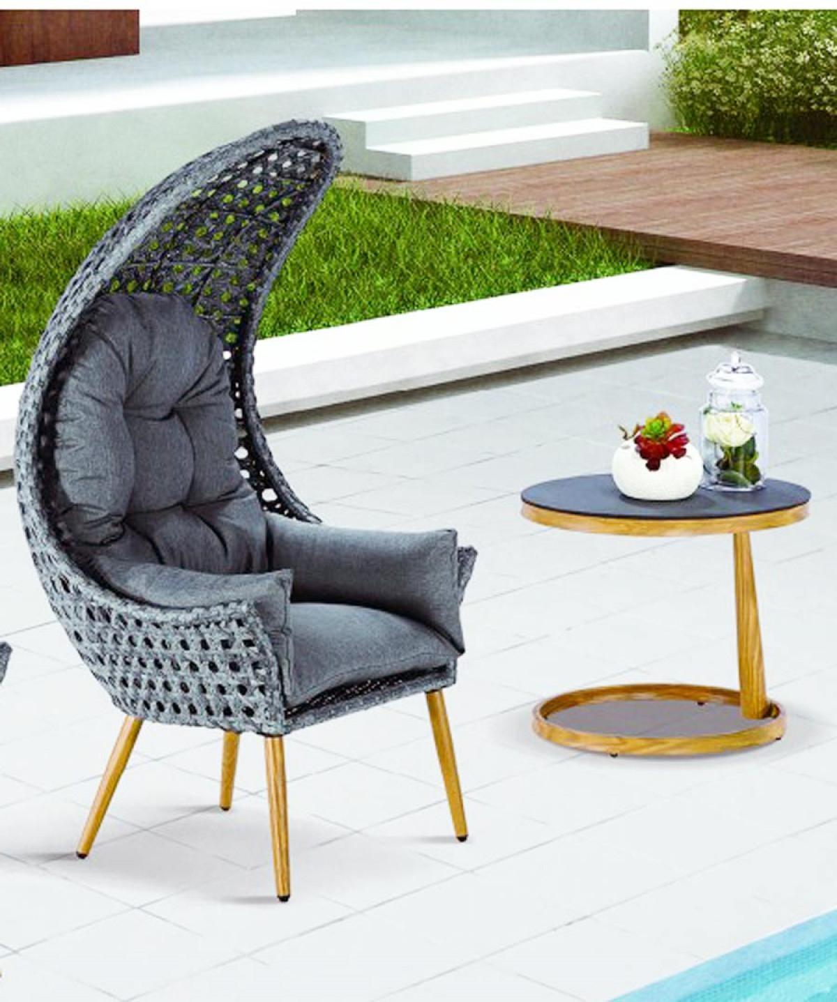 fauteuil de jardin ou d interieur avec sa table les 2 pieces