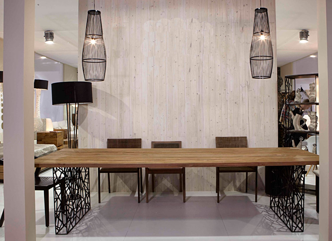 Grande table salle  manger teck jusqu 3 m