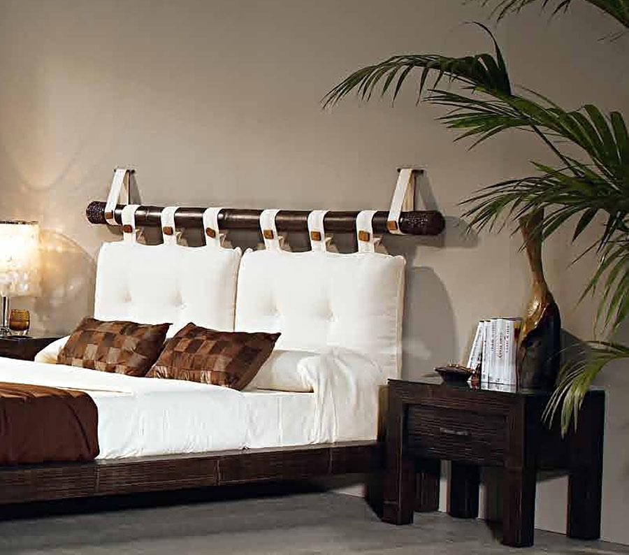 Tte de lit Bambou weng avec oreillers 6490