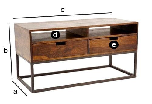 crispy meuble tele industriel dimensions compactes