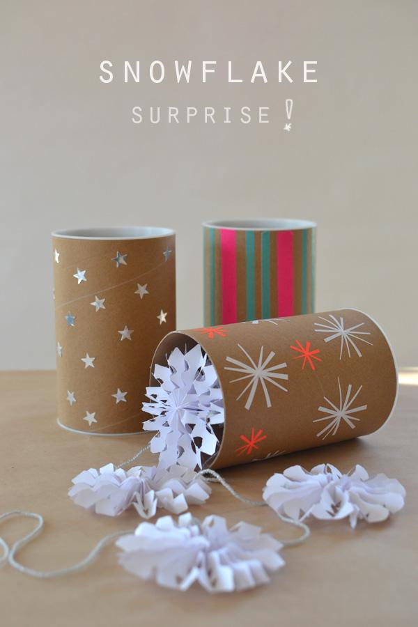 Handmade Holiday Paper Snowflake Garland ARTBAR