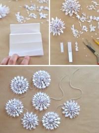 Handmade Holiday // Paper Snowflake Garland - ARTBAR