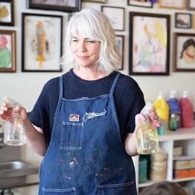 Samara Caughey from Purple Twig art studio in L.A.