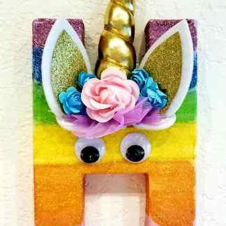 Glitter Unicorn Letter Painting Birthday Party