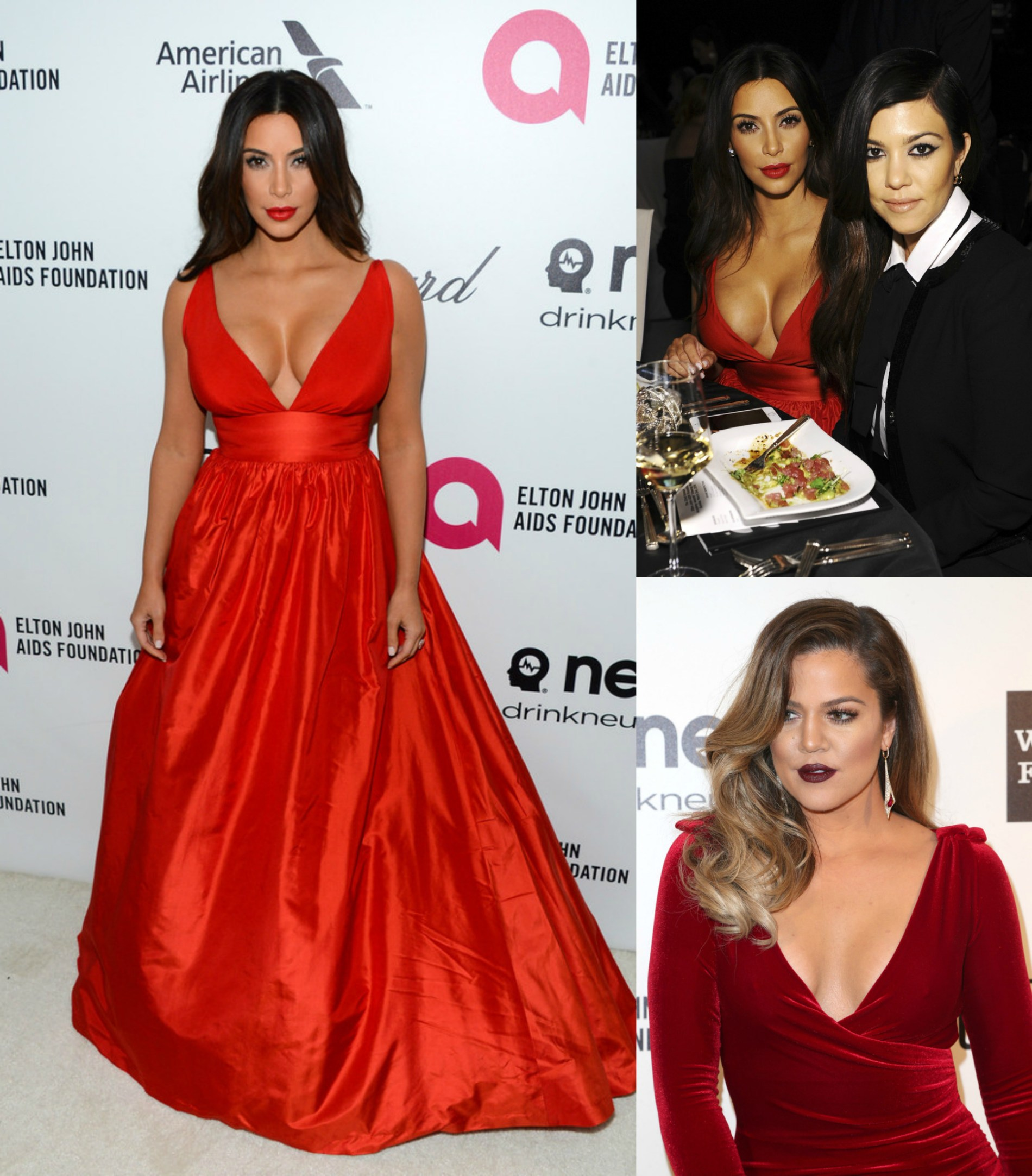 Hot or Not: Kim Kardashian in Celia Kritharioti Red Gown at the 22nd Annual Elton John AIDS Foundation Academy Awards Viewing Party