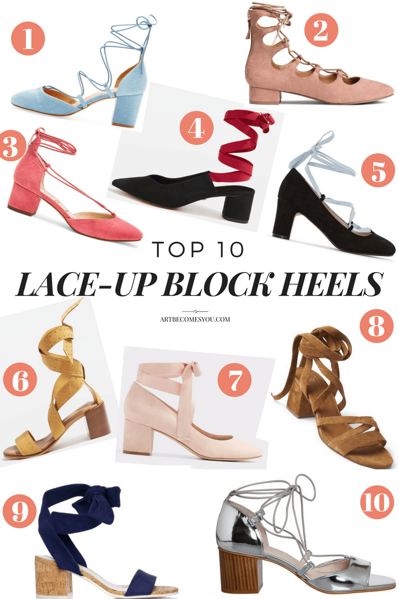 Top 10 lace up block heels