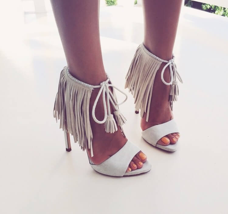 b04b2dc6 Zara Nude Fringed High Heel Sandals - Art Becomes You