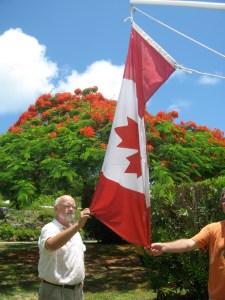 Rev Raths & Canadian flag