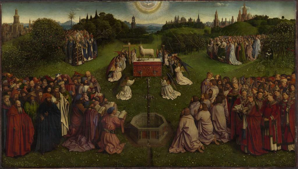 Image result for van eyck lamb that was slain