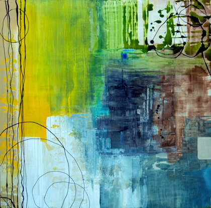 Shelly Lewis Stanfield, Fresh. Acrylic and charcoal on birch panel