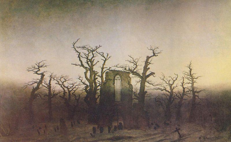 Caspar David Friedrich: Abtei im Eichwald, 1810