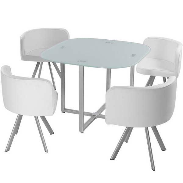 table de cuisine ronde verre