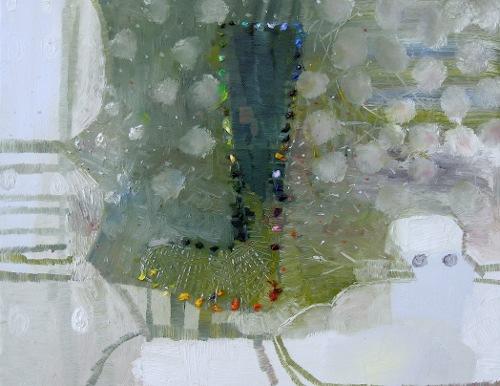 [Image: Josette Urso, Snow Knit, 2011, oil on canvas, 14 x 18 inches]