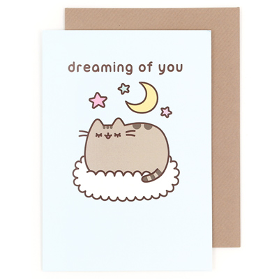 Buy Pusheen The Cat Dreaming Of You Greeting Card At ARTBOX