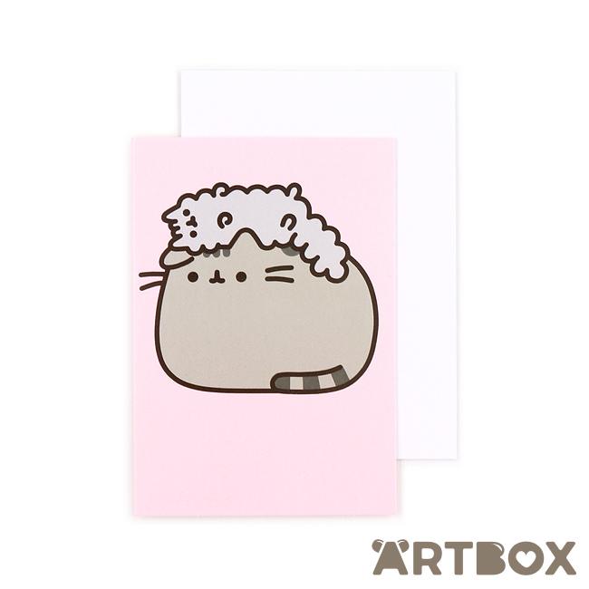 Buy Pusheen Stormy Hat Mini Greeting Card At ARTBOX