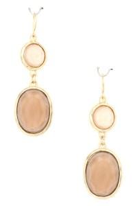 Pearl Coated Epoxy Stone Dangle Earring