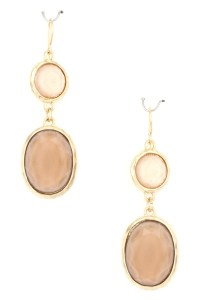 Pearl Coated Epoxy Stone Dangle Earring - Earrings