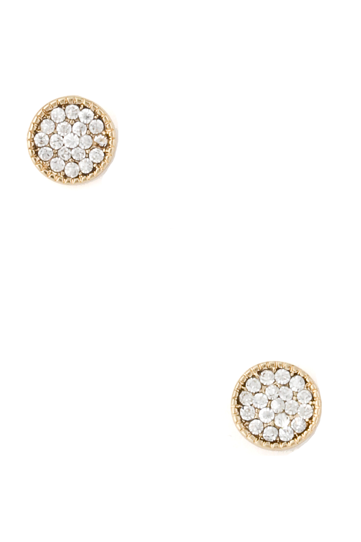 Pave Disc Earring Stud