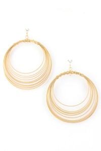 Layered Dangle Hoop Earring - Earrings