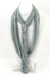 Lurex Tie Scarf - Scarves