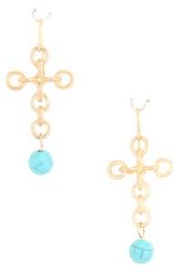Linked Cross Dangle Earrings