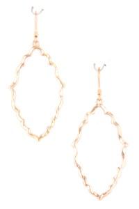 Hammered Quatrefoil Earrings